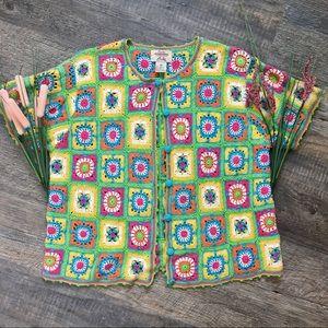Vintage Fiorlini International Crochet Coverup